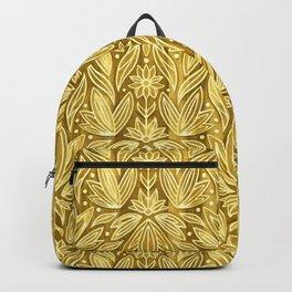 Rococo Golden Enamel Art Deco  Backpack