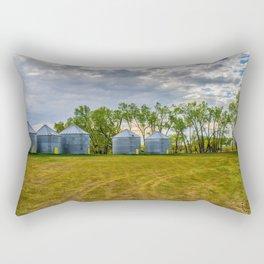 Grain Bins 2 Rectangular Pillow