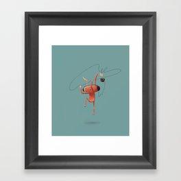Rabbit Listening Framed Art Print