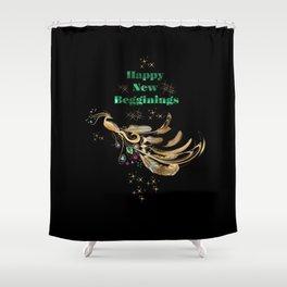 Happy New Beginnings Shower Curtain