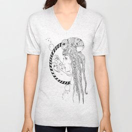 Octopus Woman Unisex V-Neck