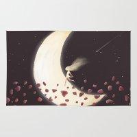 lunar Area & Throw Rugs featuring Lunar Child by Annisa Tiara Utami