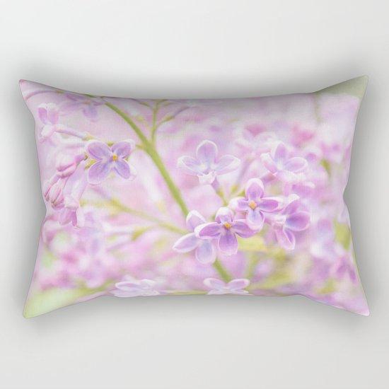 Lilac Flowers Mist Rectangular Pillow