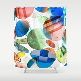 Retro Shapes Shower Curtain