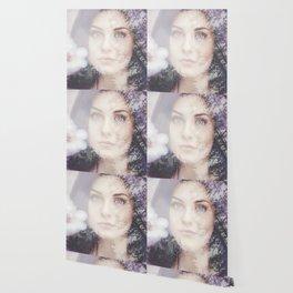 Portrait woman double exposure Wallpaper