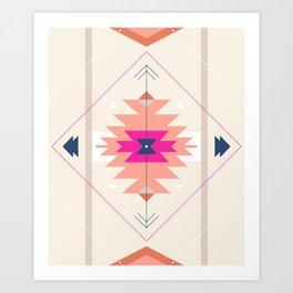 Kilim Inspired Art Print