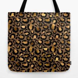 Leopard Metal Glamour Skin Tote Bag