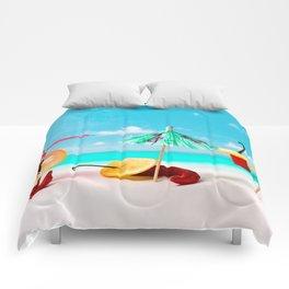 Happy beach hours Comforters