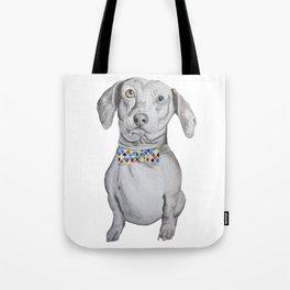 Dapper Dachshund Watercolor Dog Tote Bag