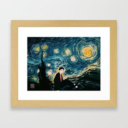 Taehyung Starry Night Framed Art Print