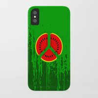 watermelon iPhone & iPod Cases featuring Watermelon by mailboxdisco