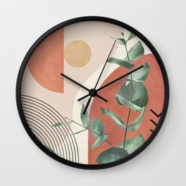 Nature Geometry IV Wall Clock