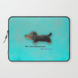Aki the Dachshund by leatherprince Laptop Sleeve