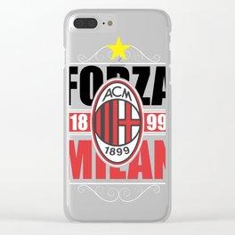 ac milan 1 Clear iPhone Case