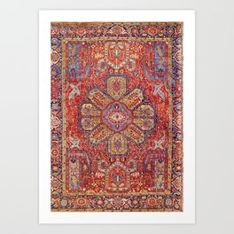 Heriz Azerbaijan Northwest Persian Carpet Print Art Print