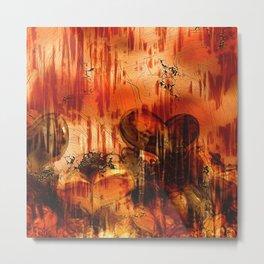 Hearts, Abstract Art Metal Print