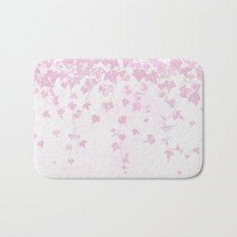 Pretty Soft Pink Trailing Ivy Leaf Print Bath Mat
