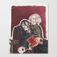 snape Canvas Prints featuring Babysitting - Snape and Draco by CaptBexx
