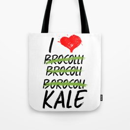 Kale Art for Vegans, Vegetarians n Broccoli Lovers Light Tote Bag