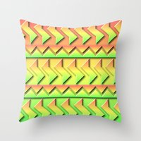 rio Throw Pillows featuring Rio by Lyle Hatch