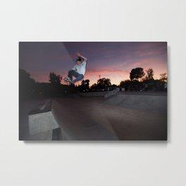 Zander Gabriel. Frontside Tuck Knee Metal Print