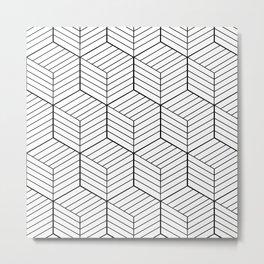 ZADA ((black on white)) Metal Print