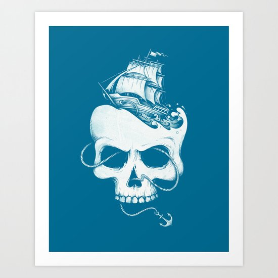 Sailing the Dead Sea Art Print
