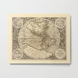 Map Of America 1595 Metal Print