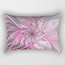 Abstract Pink Floral Dream Rectangular Pillow