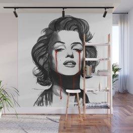Marylin Monroe Cry Wall Mural