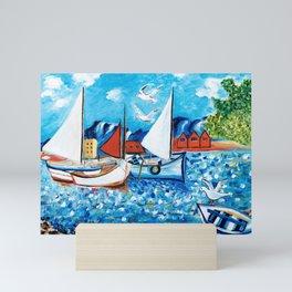 Sailboats Mini Art Print