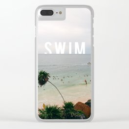 Life's A Beach. So Swim. Clear iPhone Case