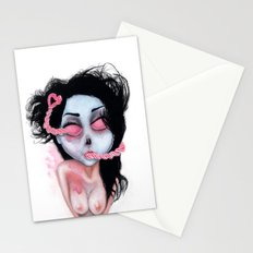 Zombie Heart-ed Stationery Cards