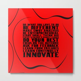 """Do what you love... """"Steve Jobs"""" Life Inspirational Quote Metal Print"""
