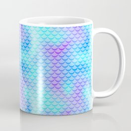 Mint Blue Mermaid Tail Abstraction. Cool Fish Scale Pattern Coffee Mug