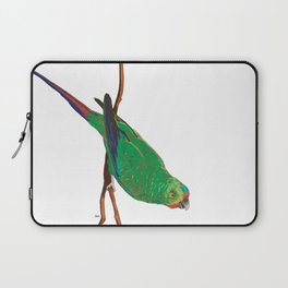 Swift Green Parrot Laptop Sleeve