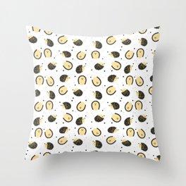 hedgegog fields Throw Pillow