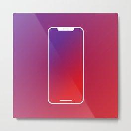 Apple I phone Metal Print