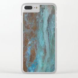 Patina Bronze rustic decor Clear iPhone Case
