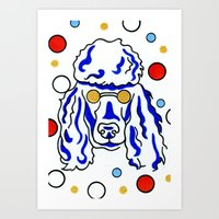 poodle Art Prints featuring Poodle by ClarityArtDesign