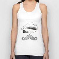 bonjour Tank Tops featuring Bonjour by Jacob Waites
