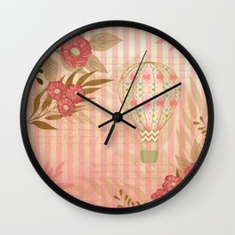 Floral Balloon Collage Wall Clock