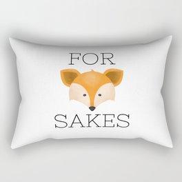 For Fox Sakes Rectangular Pillow