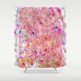 Pink Fingerprints Acrylic Shower Curtain