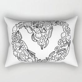 V Vegetables Rectangular Pillow