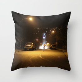 Back To The Future Cyclist Throw Pillow