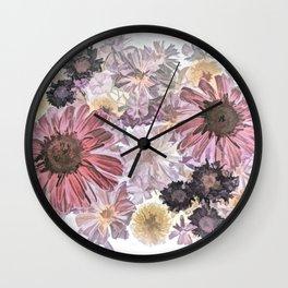 Wintry Bouquet Wall Clock