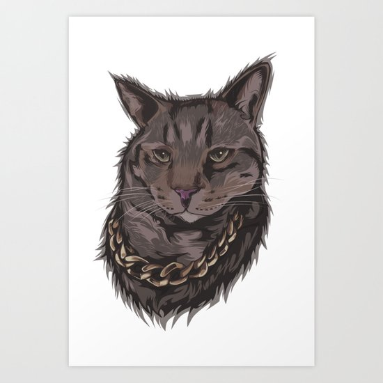 Smokey the Cat Art Print