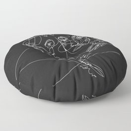 Connection by Sher Rhie Floor Pillow