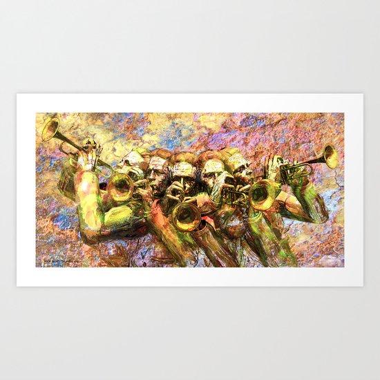 Trumpet Harmony Art Print